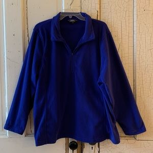 Lands' End blue fleece pullover Size 2X